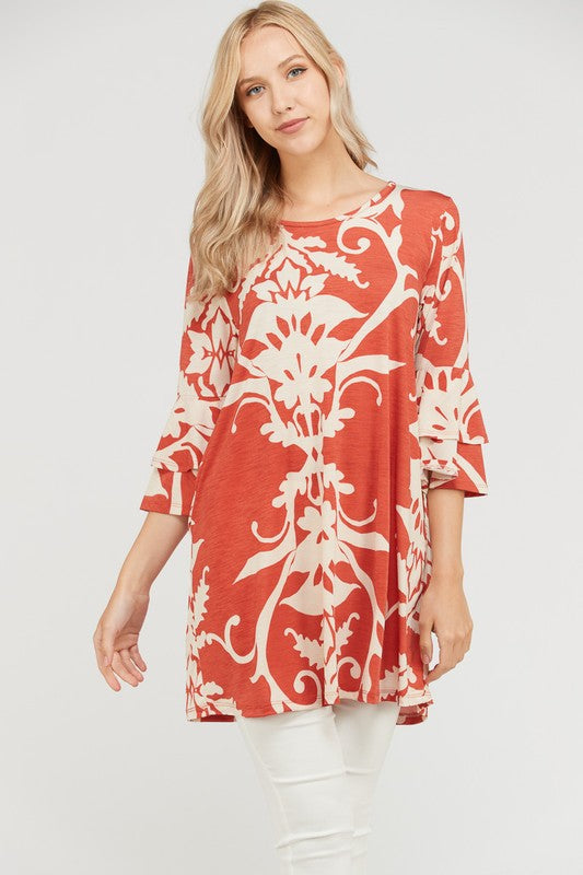 Found The Fab Tunic - Rust [product type] - Angel Heart Boutique
