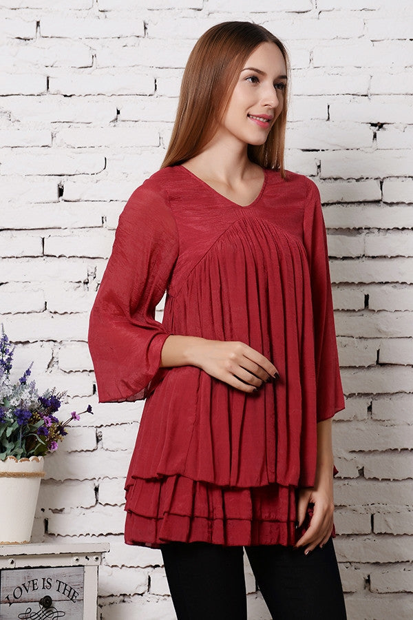 Only Thing That Matters Tunic - Crimson - Sassybling - Tunic - Angel Heart Boutique  - 2