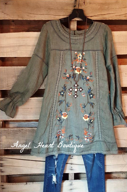Sweet Romance Dress - Olive - Umgee - Dress - Angel Heart Boutique