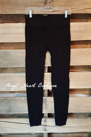 Sparkled Comfort Leggings - Black