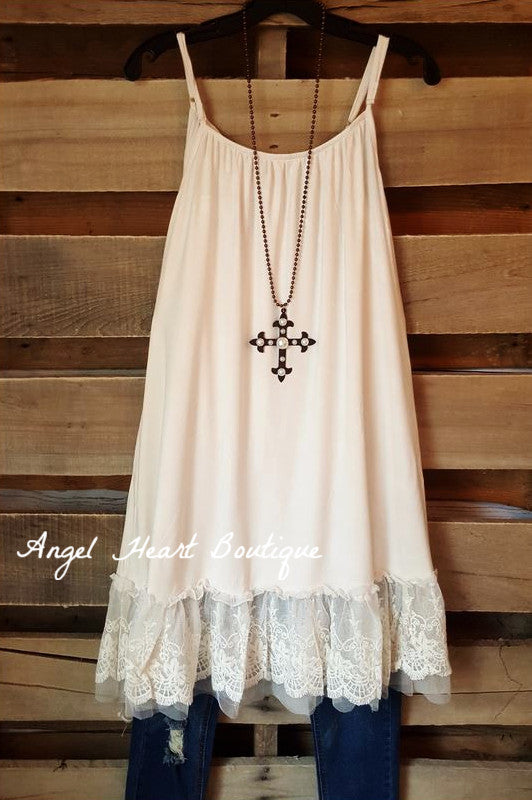Slip On Dress - Beige - Angel Hear - Dress - Angel Heart Boutique