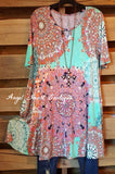 Piece Together Tunic - Mint