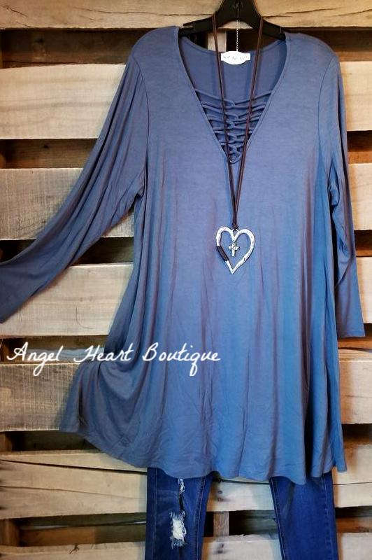 Chill Weekend Vibes - Antique Blue - SALE [product type] - Angel Heart Boutique