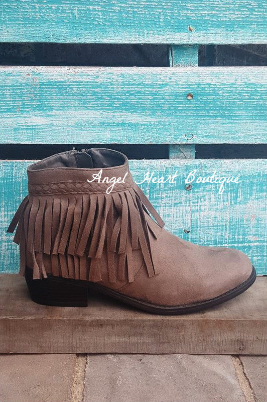 Walk of Life Booties - Taupe - Angel Heart Boutique - Shoes - Angel Heart Boutique  - 1