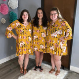 The Chance To Dance Dress - Mustard [product type] - Angel Heart Boutique
