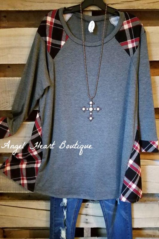 Just A Dream Tunic - Charcoal - SALE [product type] - Angel Heart Boutique
