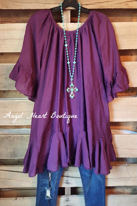 The It Girl Tunic - Purple - Sassybling - Tunic - Angel Heart Boutique