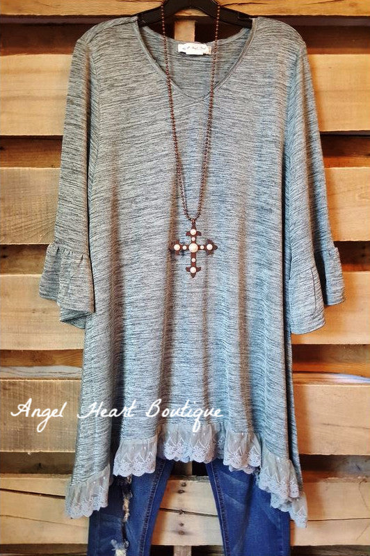 Elegant Soul Tunic - Blue - Sassybling - TUNIC - Angel Heart Boutique