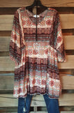 What A Feeling Tunic - Brick - Angel Heart Boutique - Tunic - Angel Heart Boutique  - 2