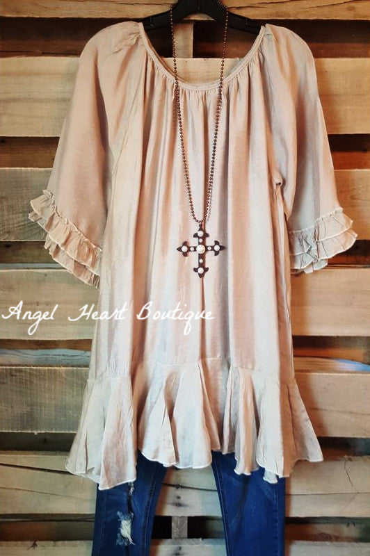 Like No Other Tunic - Champagne - Sassybling - Tunic - Angel Heart Boutique  - 2