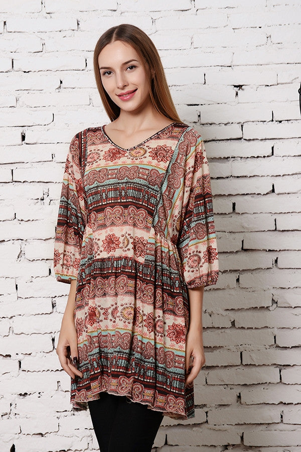 What A Feeling Tunic - Brick - Angel Heart Boutique - Tunic - Angel Heart Boutique  - 3