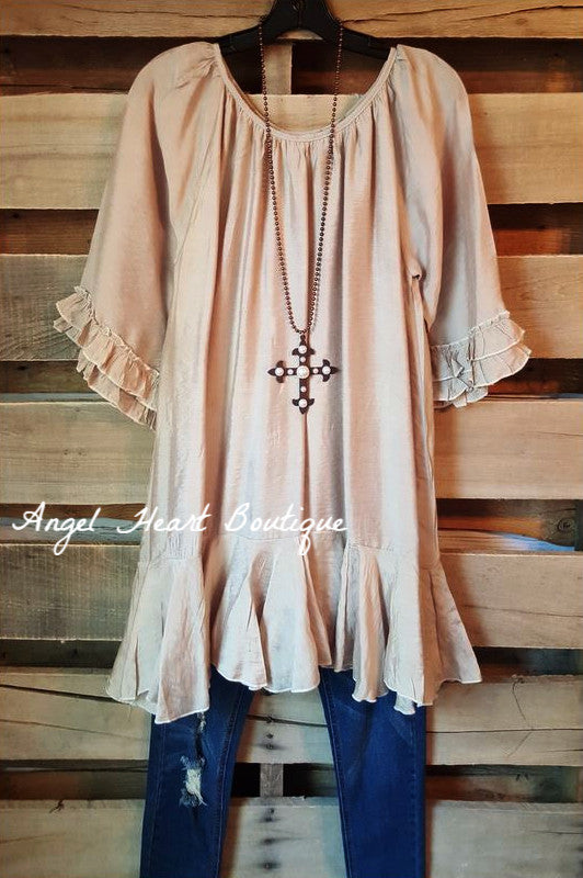 Like No Other Tunic - Champagne - Sassybling - Tunic - Angel Heart Boutique  - 1