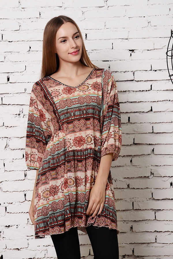 What A Feeling Tunic - Brick - Angel Heart Boutique - Tunic - Angel Heart Boutique  - 4