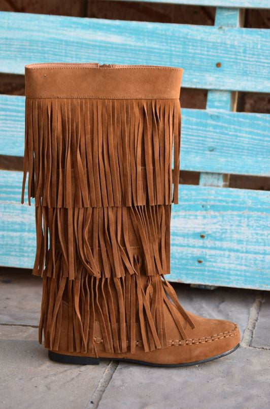 Fringe with Benefits Boots - Tan - SALE - Angel Heart Boutique - Boots - Angel Heart Boutique  - 2