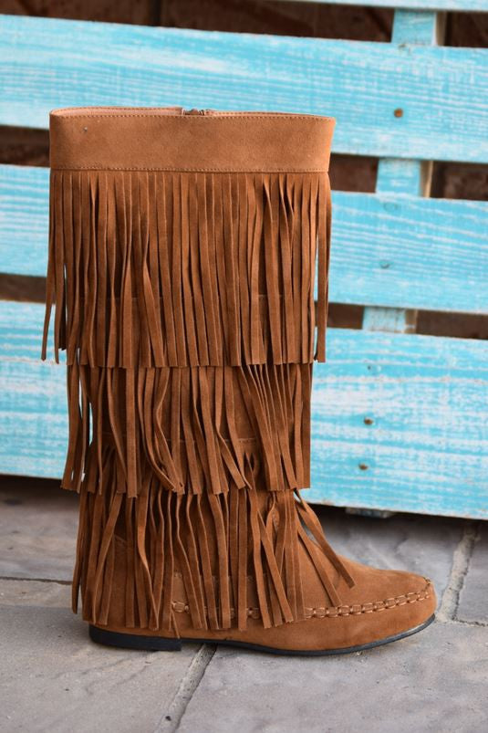 Fringe with Benefits Boots - Tan - SALE - Angel Heart Boutique - Boots - Angel Heart Boutique  - 3