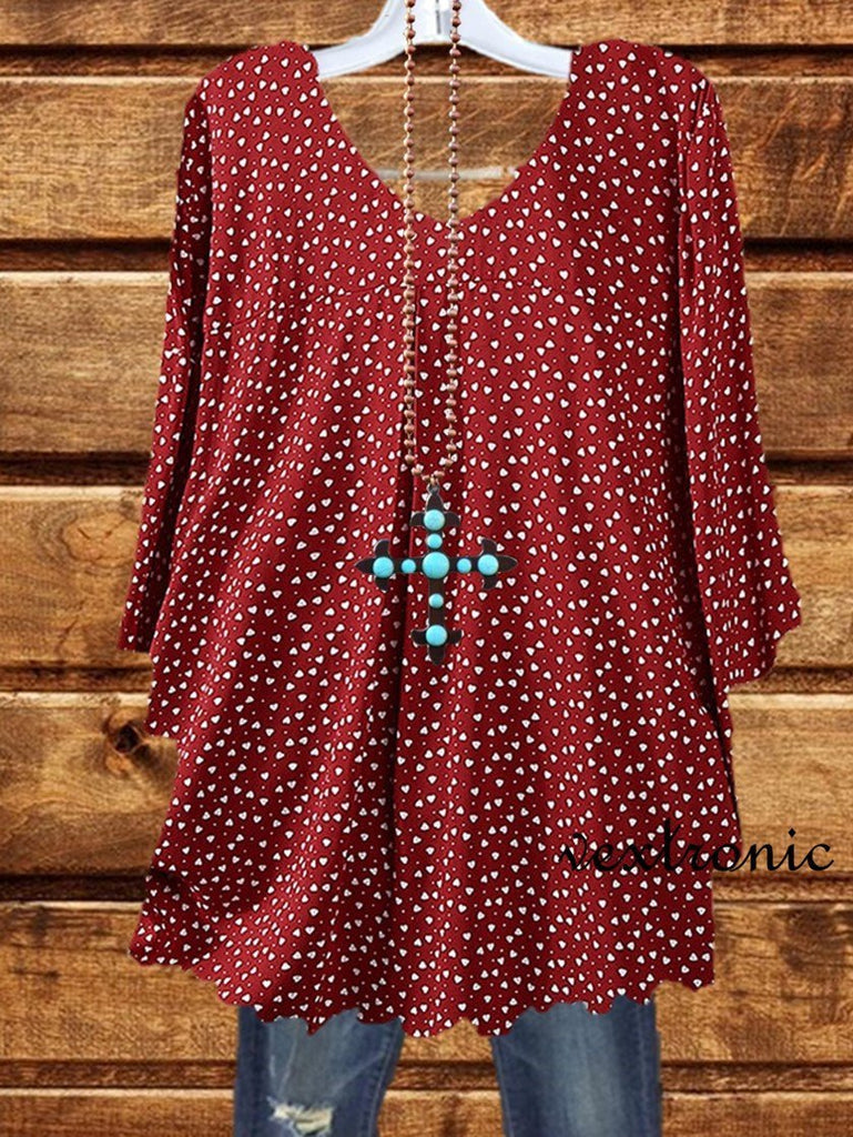 All the Polka Dots Top - Red