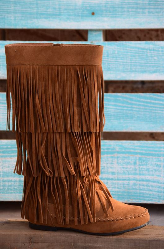 Fringe with Benefits Boots - Tan - SALE - Angel Heart Boutique - Boots - Angel Heart Boutique  - 4