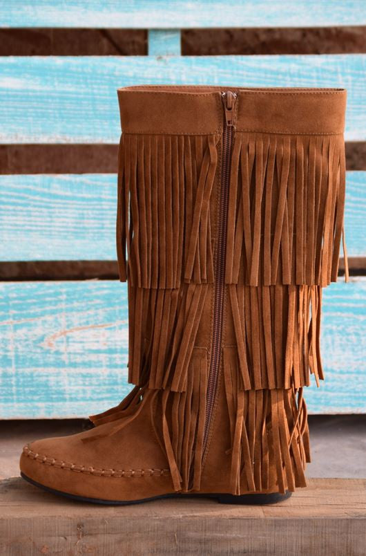 Fringe with Benefits Boots - Tan - SALE - Angel Heart Boutique - Boots - Angel Heart Boutique  - 5
