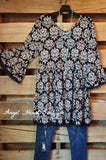 French Elegance Tunic - Black - Sassybling - Tunic - Angel Heart Boutique  - 3