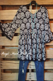 French Elegance Tunic - Black - Sassybling - Tunic - Angel Heart Boutique  - 2