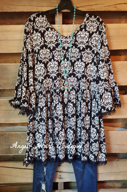 French Elegance Tunic - Black - Sassybling - Tunic - Angel Heart Boutique  - 4