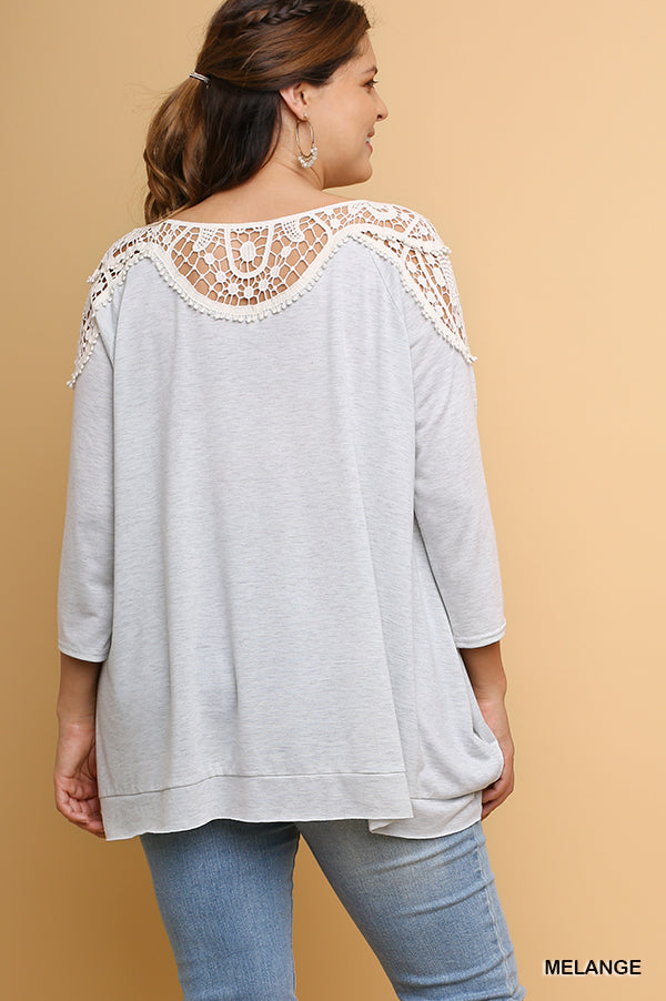 Fast Love Top - Melange -SALE [product type] - Angel Heart Boutique