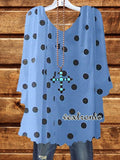 All the Polka Dots Top - Blue