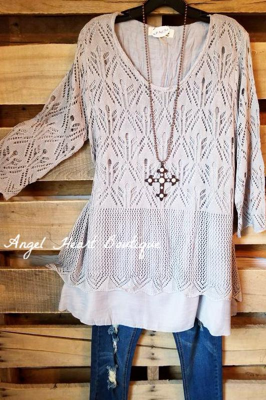 Love You Till The End Top - Gray [product type] - Angel Heart Boutique