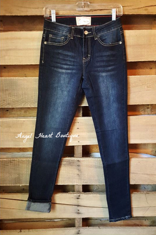 My Go To Jeans - Dark - L&B - Pants - Angel Heart Boutique  - 2