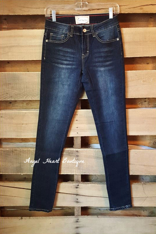 My Go To Jeans - Dark - L&B - Pants - Angel Heart Boutique  - 1