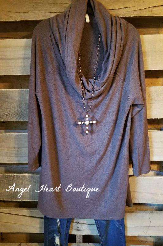 My Love Note Tunic - Walnut - SALE [product type] - Angel Heart Boutique