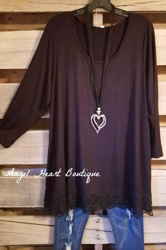 Any Occasion Tunic - Black [product type] - Angel Heart Boutique