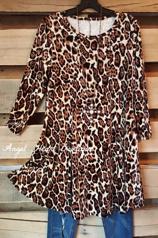 Into The wild Tunic - Leopard - Sassy Look - Tunic - Angel Heart Boutique  - 1