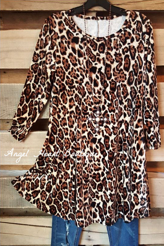 Into The wild Tunic - Leopard - Sassy Look - Tunic - Angel Heart Boutique  - 2