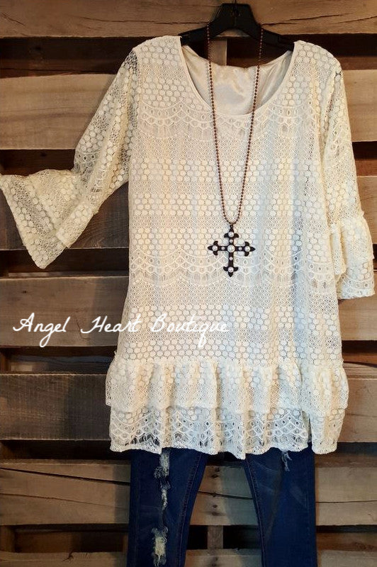 Plan to Be Pretty Tunic - Beige