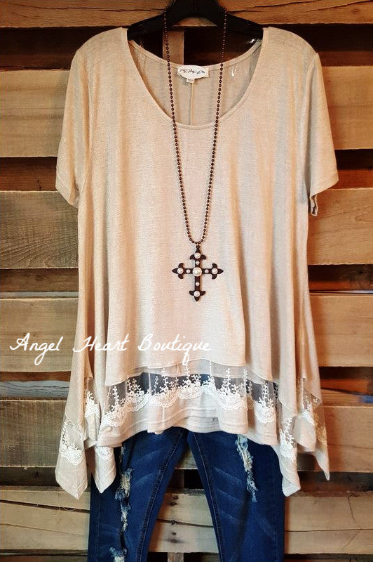 Set On The Classics Tunic - Taupe - Umgee - Tunic - Angel Heart Boutique