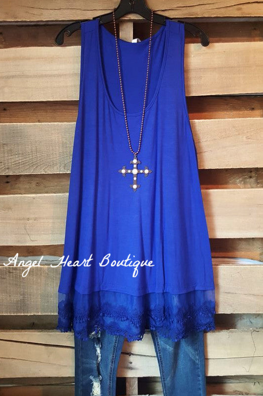 Extender: Slip on Tank/Tunic - Royal Blue [product type] - Angel Heart Boutique