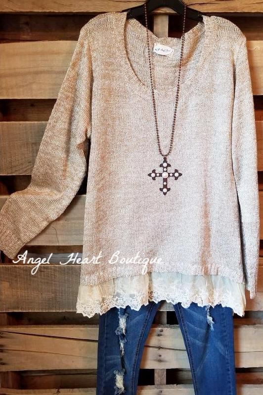 Dreamy Delight Sweater - Beige