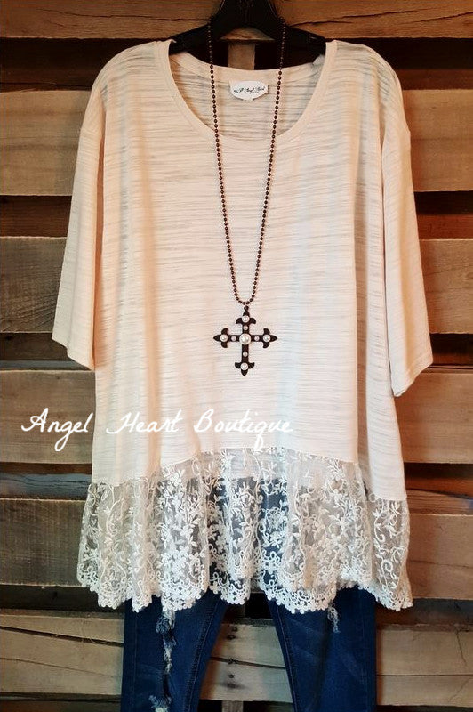 You're So Classy Tunic - Natural - Umgee - Tunic - Angel Heart Boutique