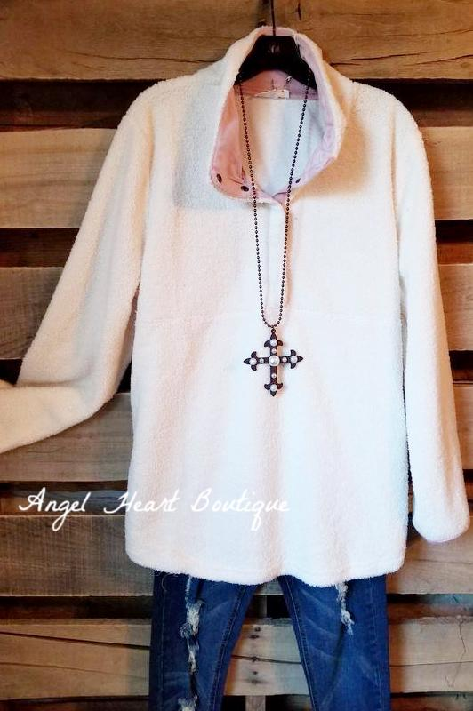 All The Feels Sweater - Cream [product type] - Angel Heart Boutique