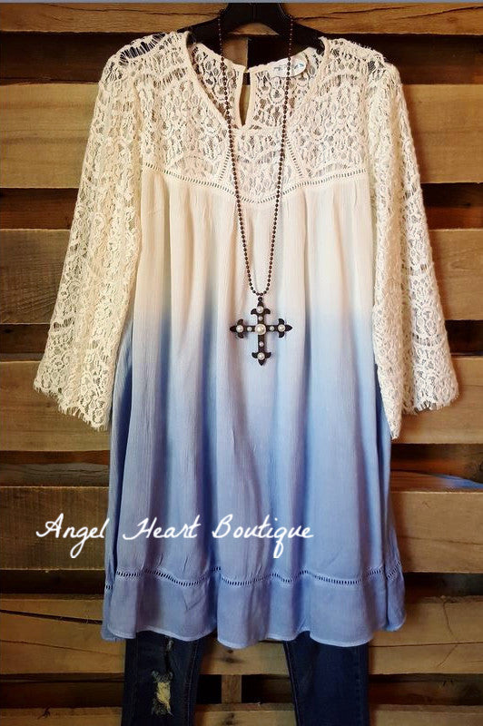 Down Memory Lane Dress - Periwinkle - Umgee - Dress - Angel Heart Boutique