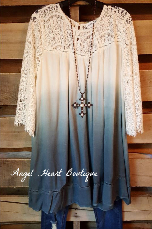 Down Memory Lane Dress - Grey - Umgee - Dress - Angel Heart Boutique