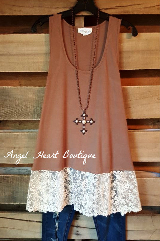 Brand New Day Tank - Mocha - Angel Heart Boutique - Tank - Angel Heart Boutique  - 2