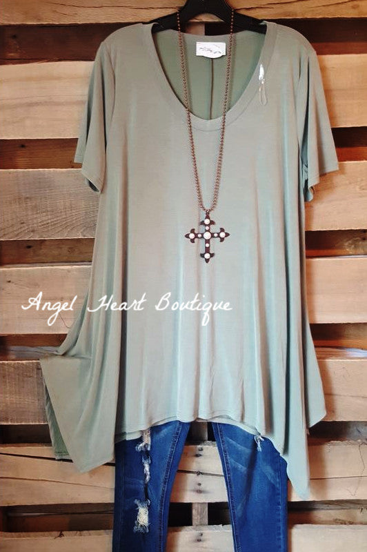 In A Girl's World Tunic - Olive