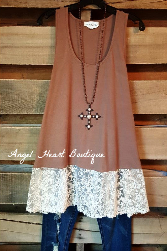 Brand New Day Tank - Mocha - Angel Heart Boutique - Tank - Angel Heart Boutique  - 1