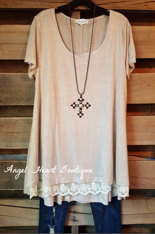 What Are You Waiting For Tunic - Taupe - Umgee - Tunic - Angel Heart Boutique