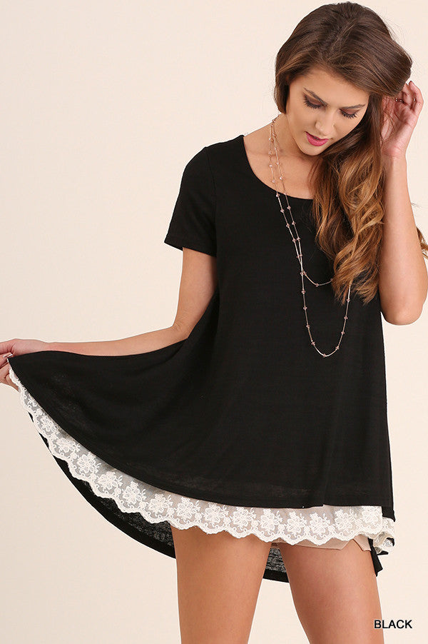What Are You Waiting For Tunic - Black - Umgee - Tunic - Angel Heart Boutique  - 2