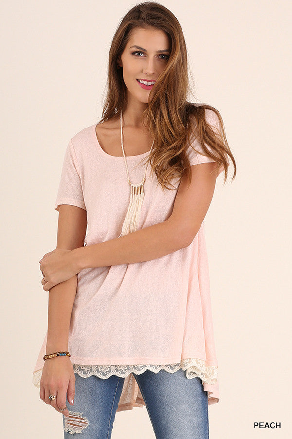 What Are You Waiting For Tunic - Peach - Umgee - Tunic - Angel Heart Boutique  - 4