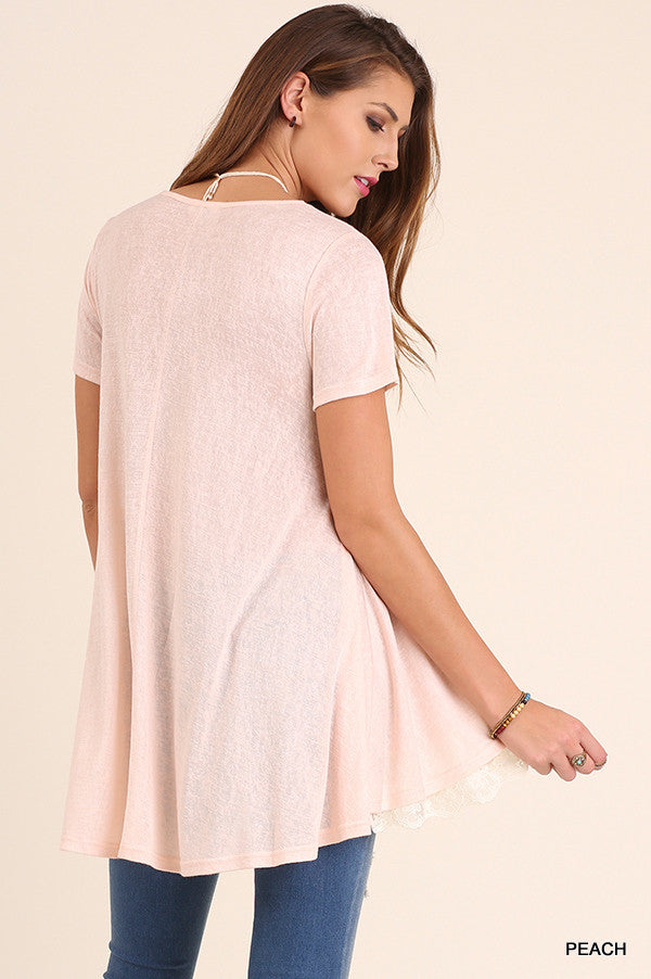 What Are You Waiting For Tunic - Peach - Umgee - Tunic - Angel Heart Boutique  - 5