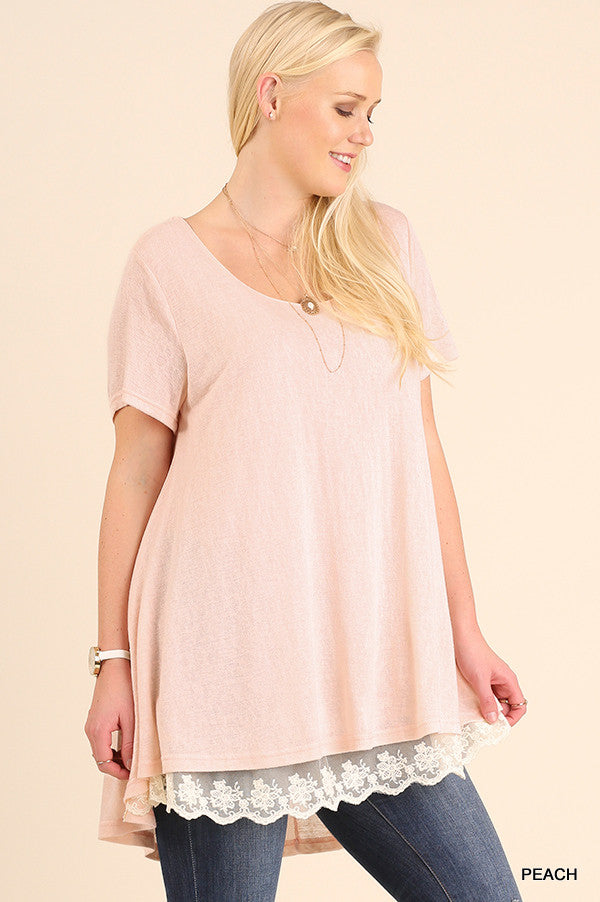 What Are You Waiting For Tunic - Peach - Umgee - Tunic - Angel Heart Boutique  - 2